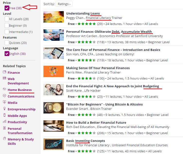 Udemy-Personal-Dev-Niches-Marked-Screenshot