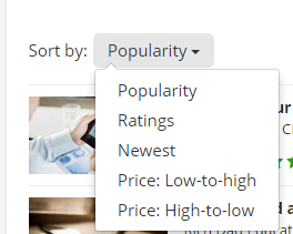 Udemy-Sort-By-Popularity-or-Rating-ScreenShot